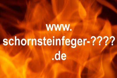 Schornsteinfeger Domain mit Feuer