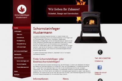 Schornsteinfeger Werbung mit Web Template